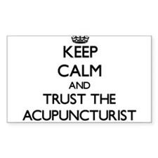 Keep Calm and Trust the Acupuncturist Decal