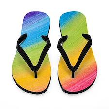 Acrylic Rainbow Flip Flops