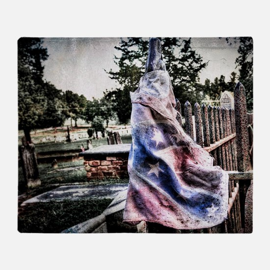 Old Rebel Flag Throw Blanket