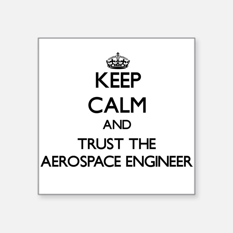 Keep Calm and Trust the Aerospace Engineer Sticker