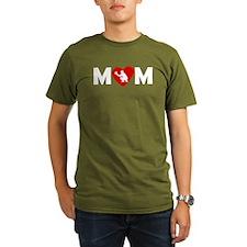Baseball Catcher Heart Mom T-Shirt
