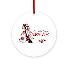 Carcinoid Cancer Survivor 3 Ornament (Round)