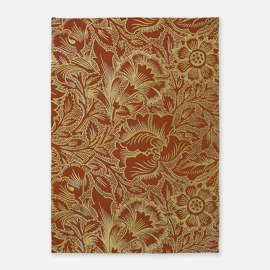 William Morris Poppy 5'x7'area Rug
