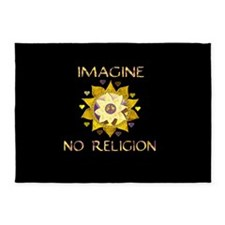 Imagine No Religion 5'x7'Area Rug