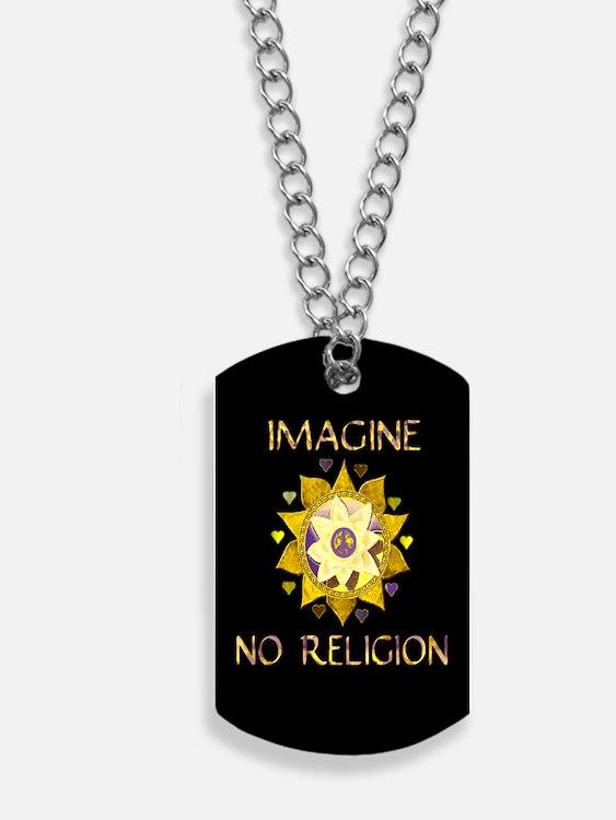 Imagine No Religion Dog Tags