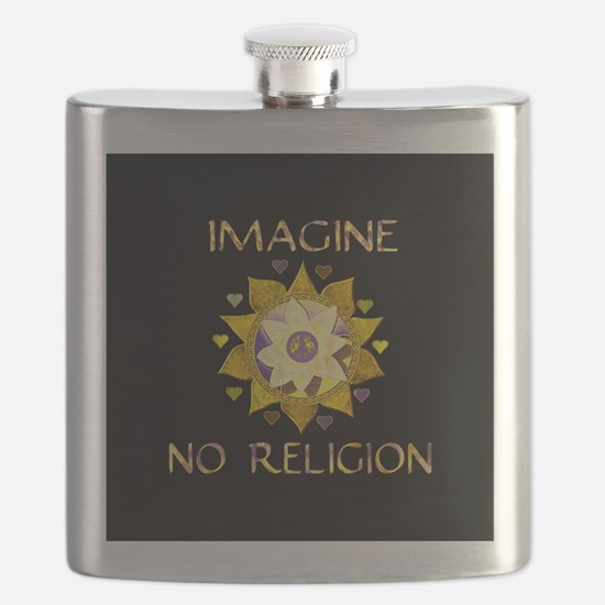 Imagine No Religion Flask