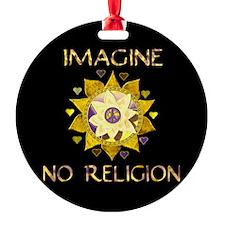 Imagine No Religion Ornament