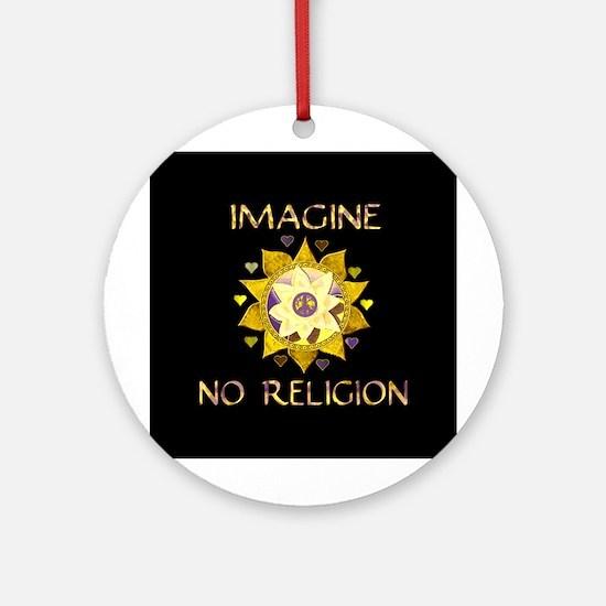 Imagine No Religion Ornament (Round)