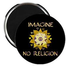 "Imagine No Religion 2.25"" Magnet (10 pack)"