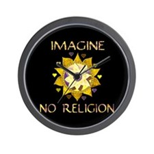 Imagine No Religion Wall Clock