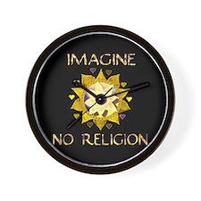 Imagine No Religion Wall Clock