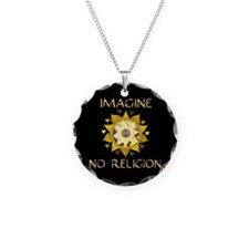 Imagine No Religion Necklace Circle Charm