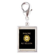 Imagine No Religion Silver Portrait Charm
