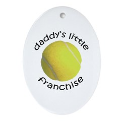 Tennis - Dad's Franchise Oval Ornament