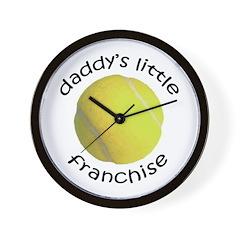 Tennis - Dad's Franchise Wall Clock