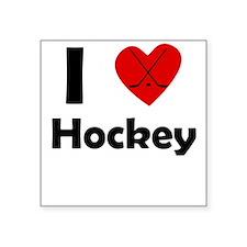 I Heart Hockey Sticker