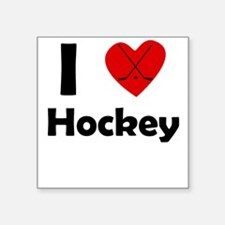 I Heart Hockey Sticker