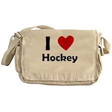 I Heart Hockey Messenger Bag