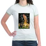 Fairies & Cavalier (BT) Jr. Ringer T-Shirt