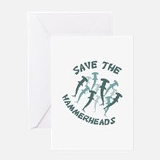 SAVE THE HAMMERHEADS Greeting Cards