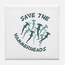 SAVE THE HAMMERHEADS Tile Coaster