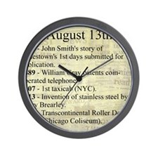 August 13th Wall Clock