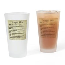 August 13th Drinking Glass