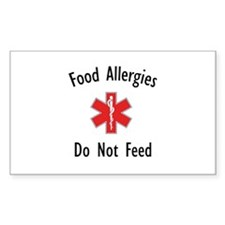 Food Allergies Rectangle Decal