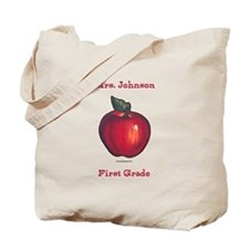 Red Apple Tote Bag Personalize