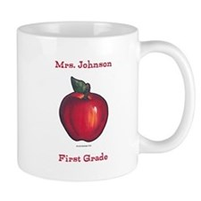 Red Apple Mugs Personalize