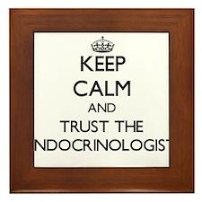 Keep Calm and Trust the Endocrinologist Framed Til