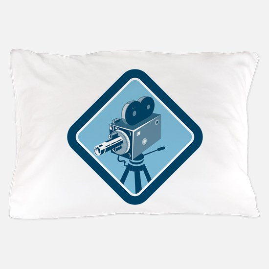 Vintage Movie Film Camera Retro Pillow Case