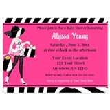 Pink and zebra 5 x 7 Flat Cards