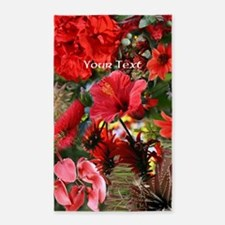 Customizable Red Flower Photo Colla 3'x5' Area Rug