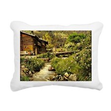 Gastein, landscape paint Rectangular Canvas Pillow