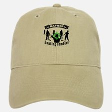 I'd RATHER be hunting zombies Baseball Baseball Cap