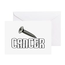 Screw Carcinoid Cancer 1C Greeting Card