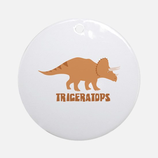 Triceratops Ornament (Round)
