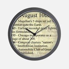 August 10th Wall Clock