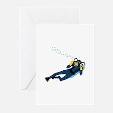 Scuba Diver Greeting Cards