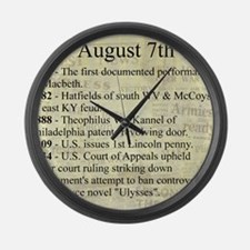 August 7th Large Wall Clock