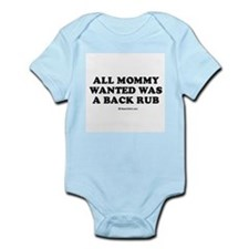 All mommy wanted was a back rub / Baby Humor Infan