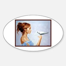 Dove Sticker (Oval)