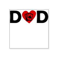 Poker Heart Dad Sticker
