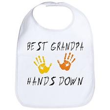 Best Grandpa Hands Down Bib