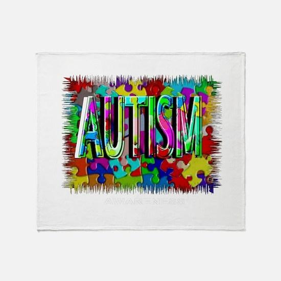 Autism Awareness Throw Blanket