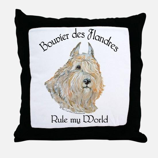 Bouvier des Flandres Wheaten Throw Pillow