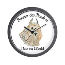 Bouvier des Flandres Wheaten Wall Clock
