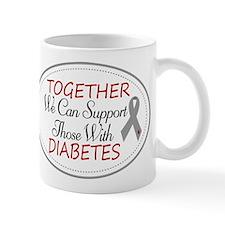 Diabetes Peace Love Cure Mugs