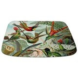 Hummingbird shower curtain Memory Foam Bathmats